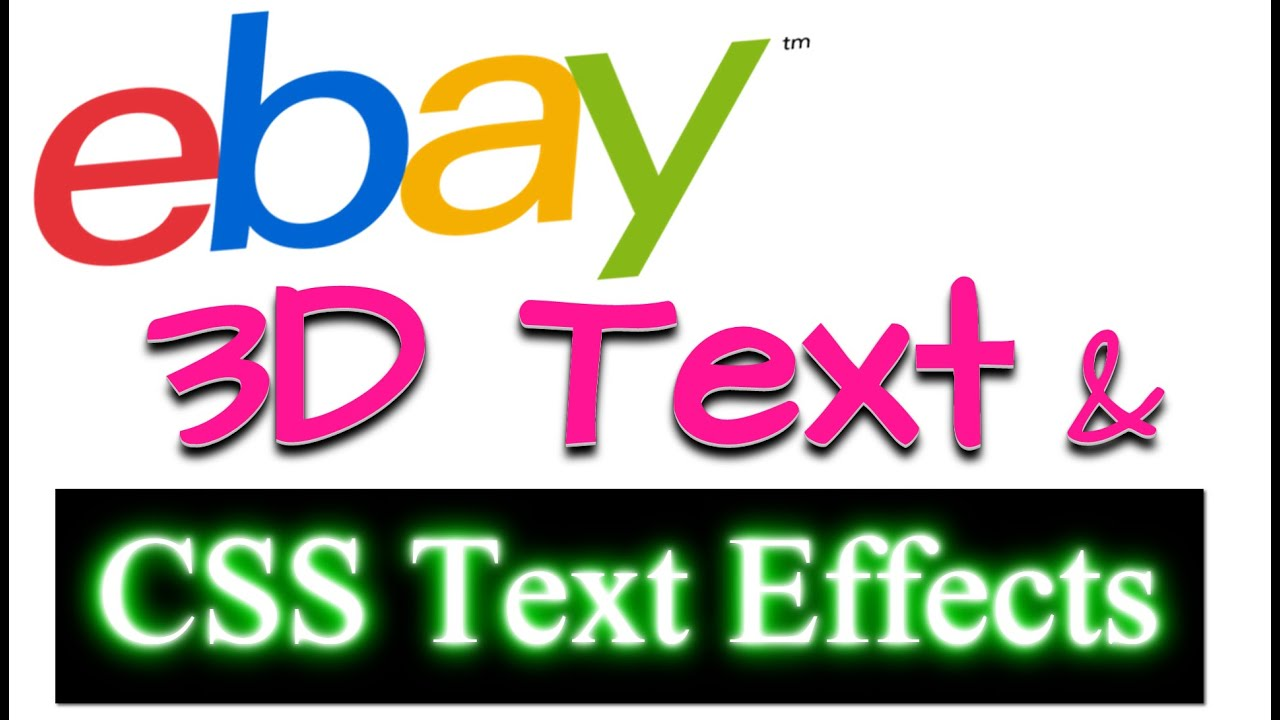 How To Make 3D Text & CSS Text Effects For eBay Auction Templates ...