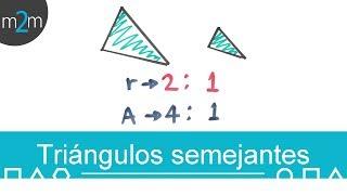 Triángulos semejantes │ razón entre áreas