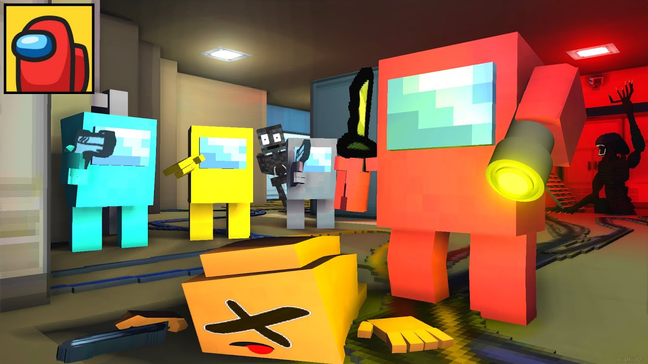 Monster School : AMONG US PART 2 WITHER CHEATER ALIEN IMPOSTOR ESCAPE - Minecraft Animation