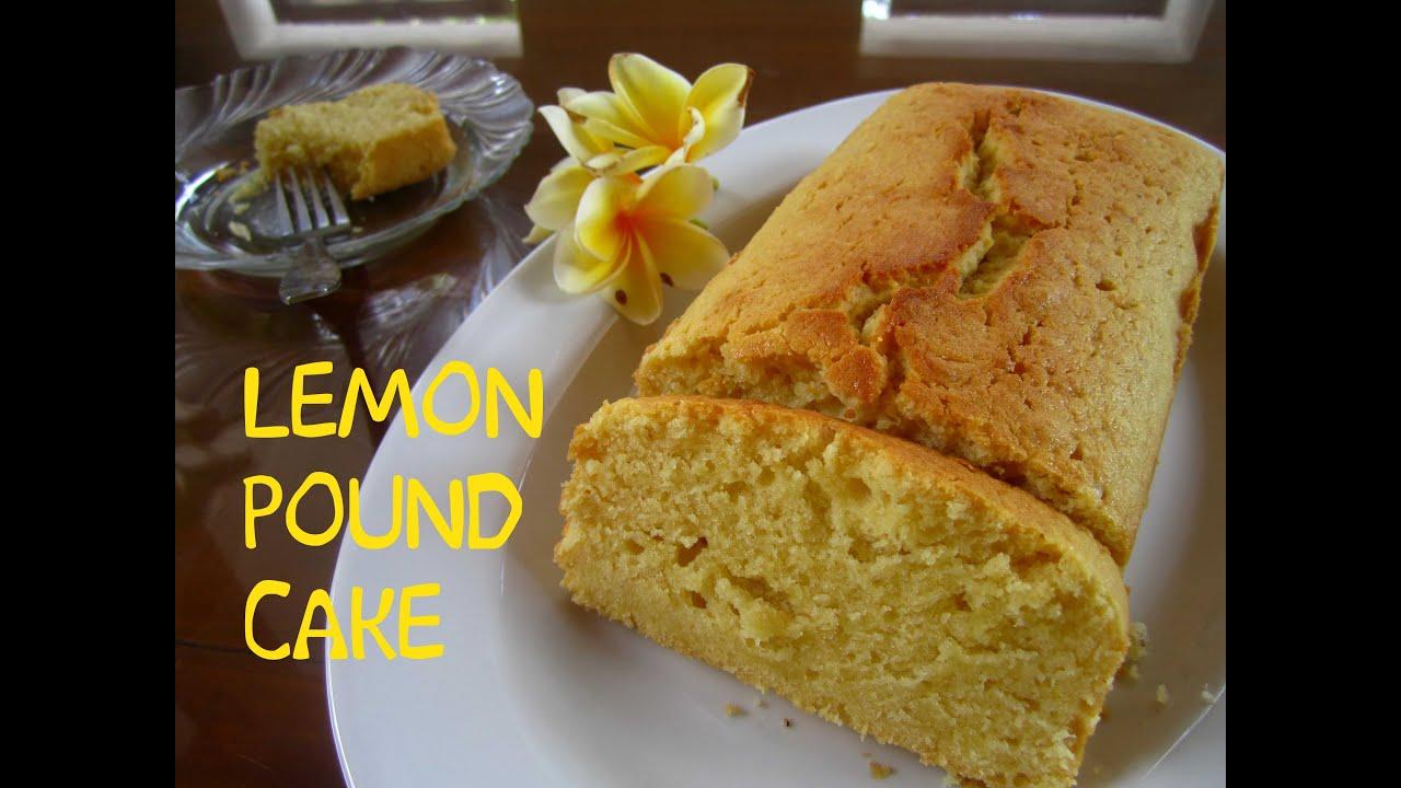 Cara Membuat Lemon Pound Cake Youtube