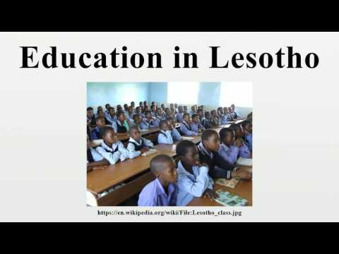 Education in Lesotho