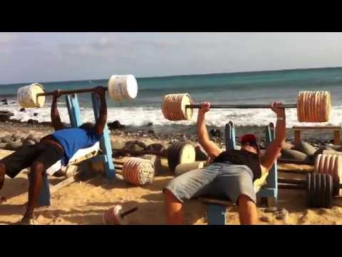 Local gym in Santa Maria, Sal, Cape Verde Islands, Africa