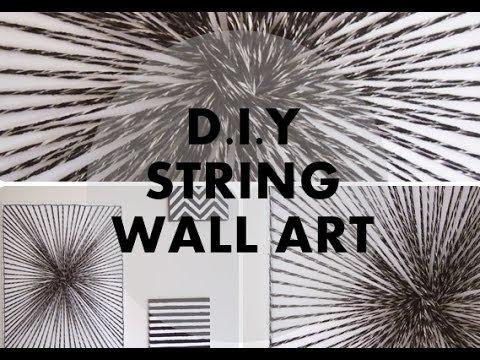 String Wall Art diy string wall art | nancy mac - youtube