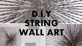 DIY String Wall Art | NANCY MAC