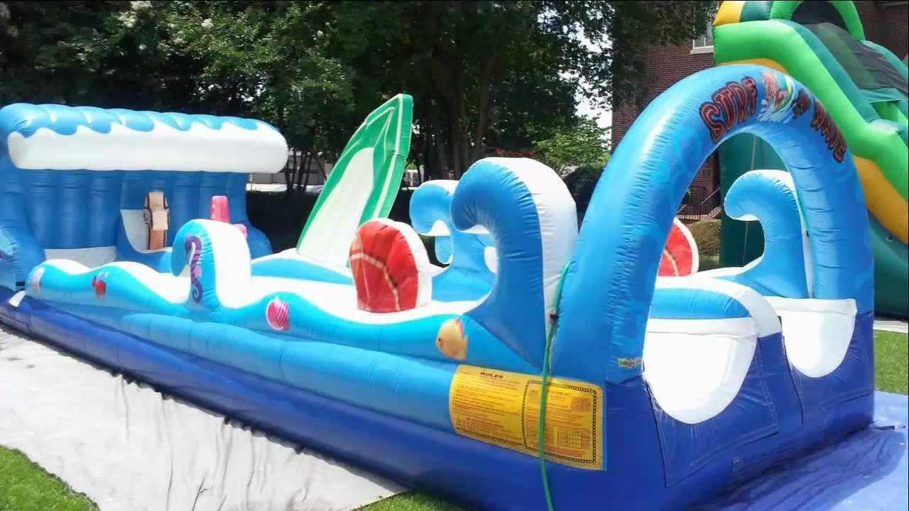 Giant Inflatable Slip N Slide Surf The Wave Youtube