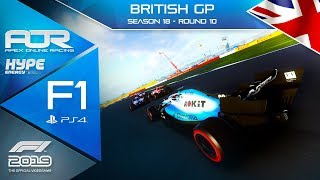 F1 2019 | AOR Hype Energy F1 League | PS4 | S18 | R10: BRITISH GP