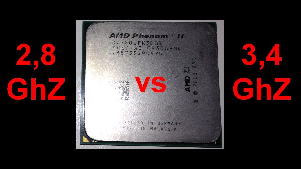 Tech: Triple core AMD Phenom II 720 BE Heka and comparing 2,8 GhZ to 3,4 GhZ (synthetic benchmarks)