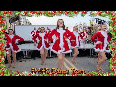 Fort Mill High School Dance Team at Christmasville in Rock Hill, SC