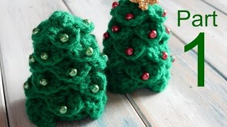 Crochet Crocodile Stitch Mini Christmas Tree