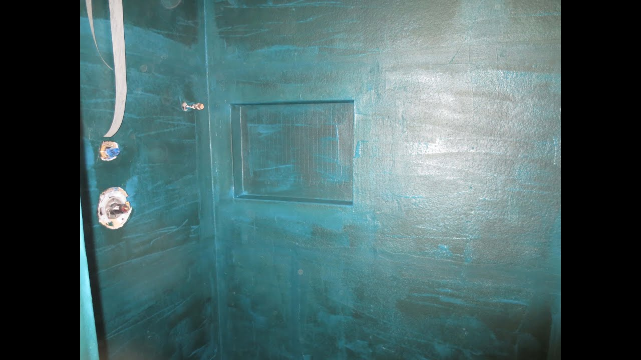 Tile Shower Failure and repair. Part 2 Waterproofing - YouTube