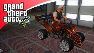 GTA V Freeroam - SUPER QUAD BIKE STUNT! (GTA 5 Online Bikers DLC)