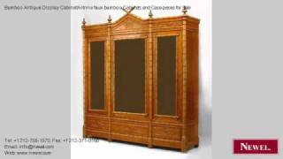 Bamboo Antique Display Cabinet/vitrine Faux Bamboo Cabinets