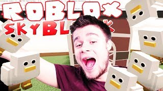 I STARTED a CHICKEN FARM! | ROBLOX: Skyblock 2 [#2/4] (With: Diabeuu) #Bladii #PL