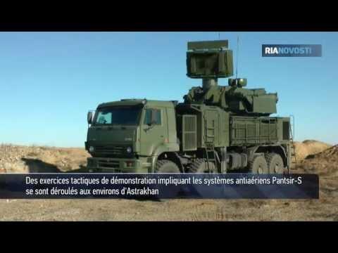 Les systèmes antiaériens Pantsir-S en action