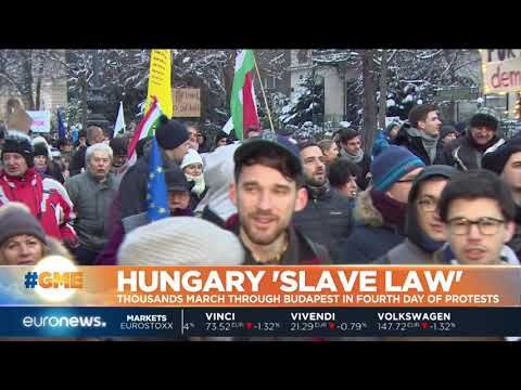Hungary 'Slave Law': thousands march through Budapest | #GME