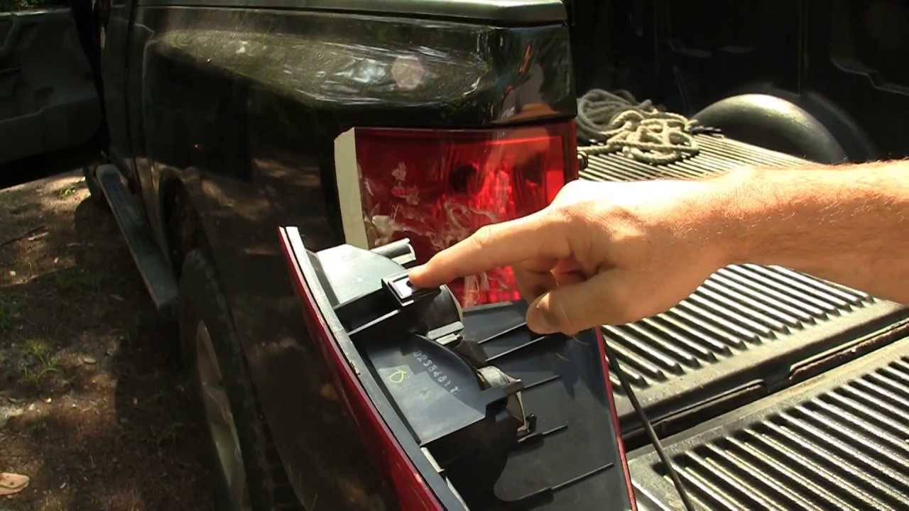 nissan titan how to replace tail light lens or replace