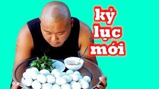 Thánh Ăn Đầu Trọc Thử Thách Phá Kỷ Lục Ăn 30 Trứng Vịt Lộn Của Bản Thân | Sơn Dược Vlogs #309