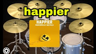Marshmello Ft. Bastille - Happier   Drumcover By Aek