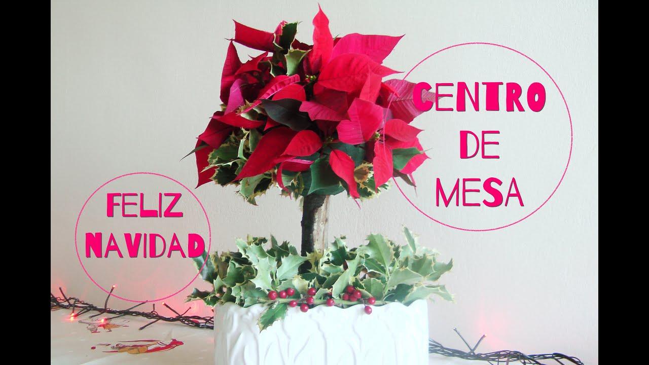 Topiario natural arreglo floral centro de mesa navide o for Arreglos navidenos para mesa