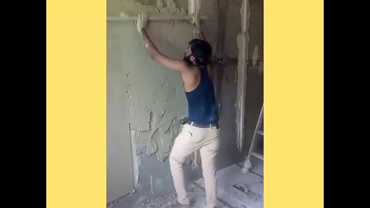 Gypsum, Wall paning - YouTube