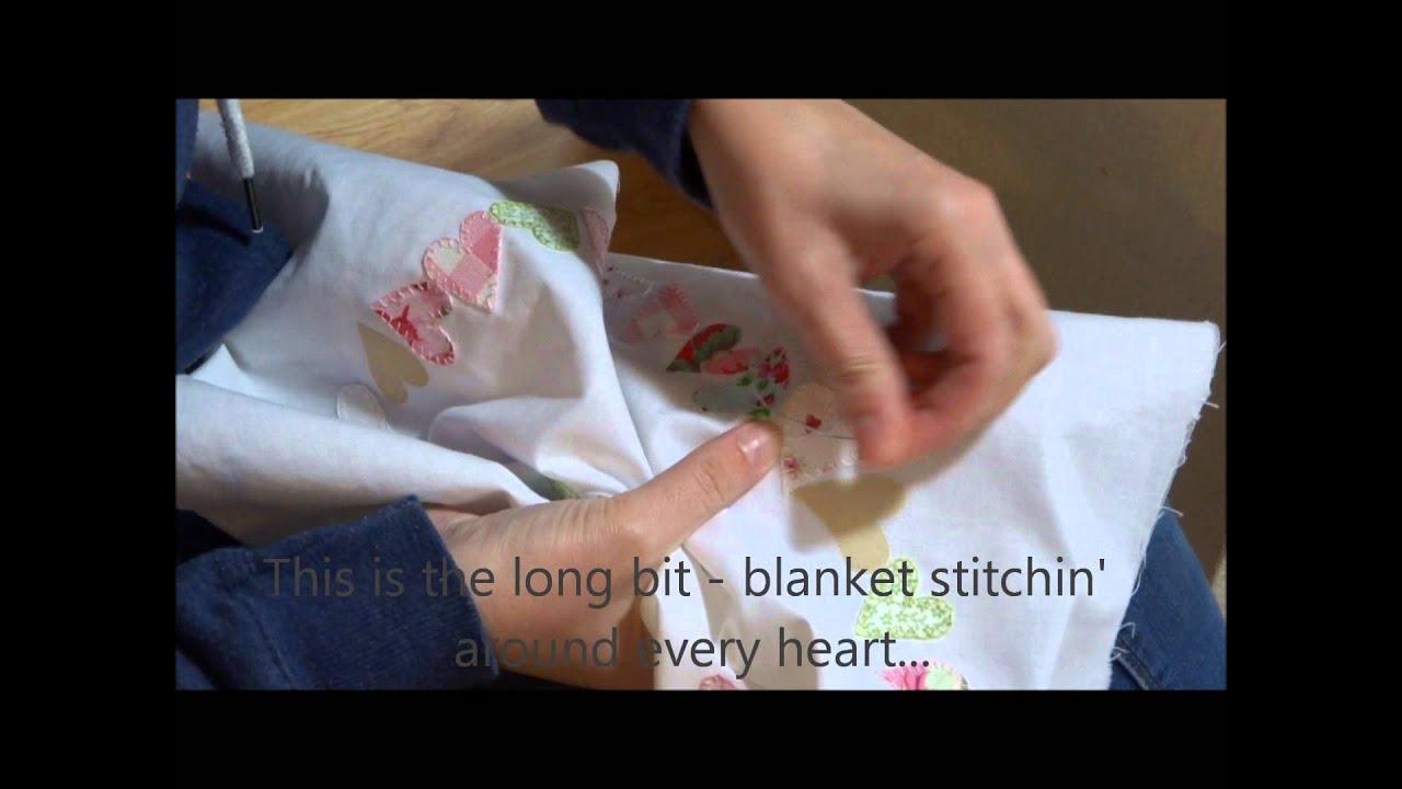 How i made an applique hearts cushion youtube