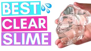 BEST CLEAR SLIME! EXPOSING MY CLEAR GLOSS SLIME RECIPE!