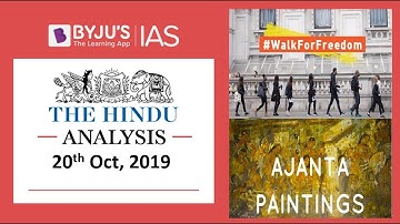 'The Hindu' Analysis for 20th October, 2019 (Current Affairs for UPSC/IAS)