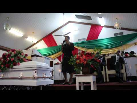 Rev Diana Francis On Fire at a Home Going Service For Miss Colamae.