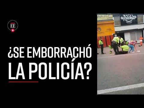 Policías aparentemente borrachos en Tunja| Noticias| El Espectador