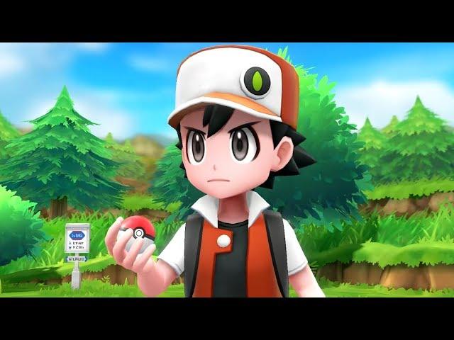 Pokémon Let's Go Pikachu & Eevee - Trainer Red Battle + Full Pokédex