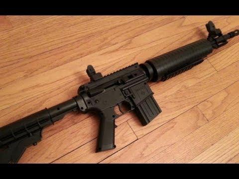 Crosman m4 177 ar 15 pellet bb gun youtube for Www bb