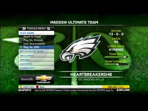 Madden Ultimate Team 12 Episode 13 - Giveaway Update And New Cards