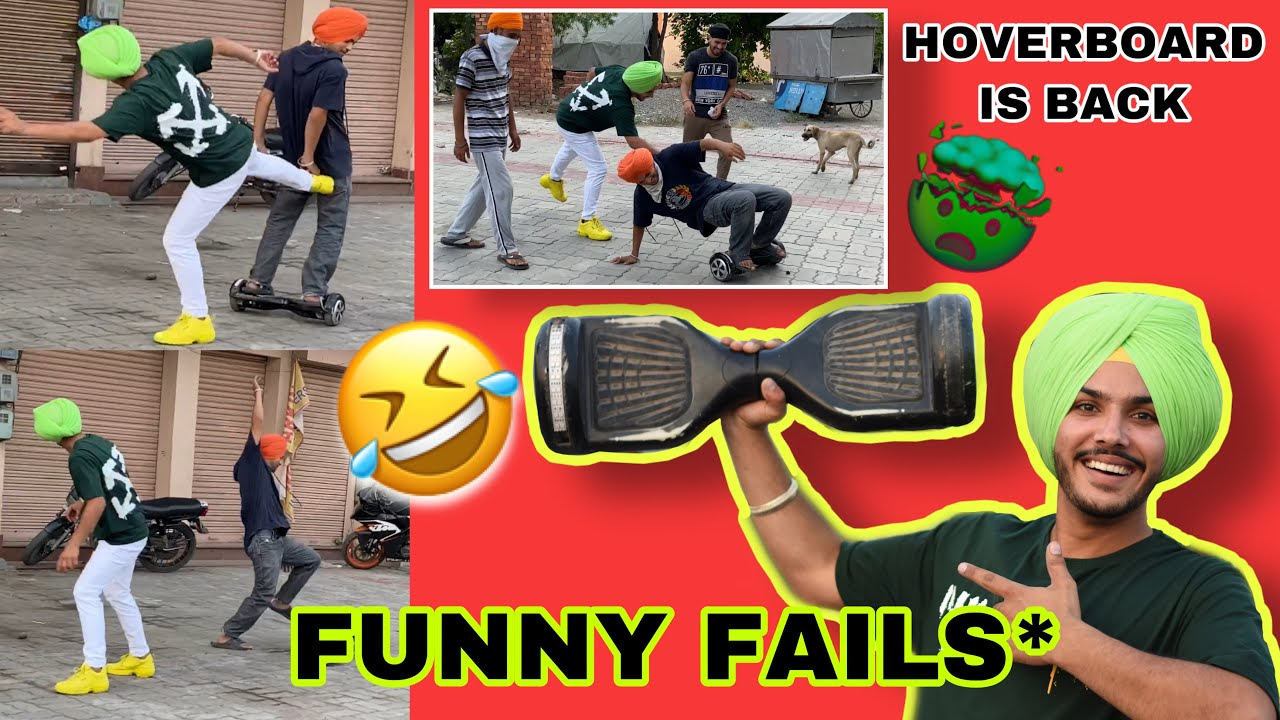 Hoverboard is back 😱 Funny fails* 😂😂
