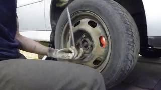 Замена рулевой тяги + схождение колёс по нитке Volkswagen polo