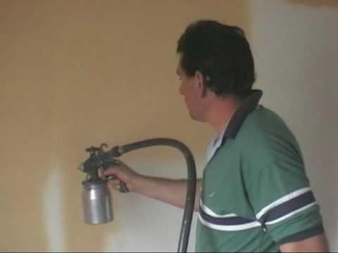 Pintando habitacion con plastica y pistola adiabatic youtube - Pistola pintura plastica ...