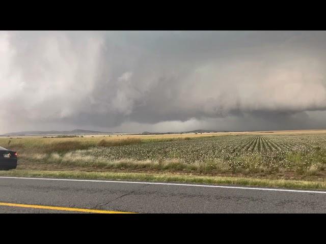 TORNADIC supercell near Roosevelt OK earlier