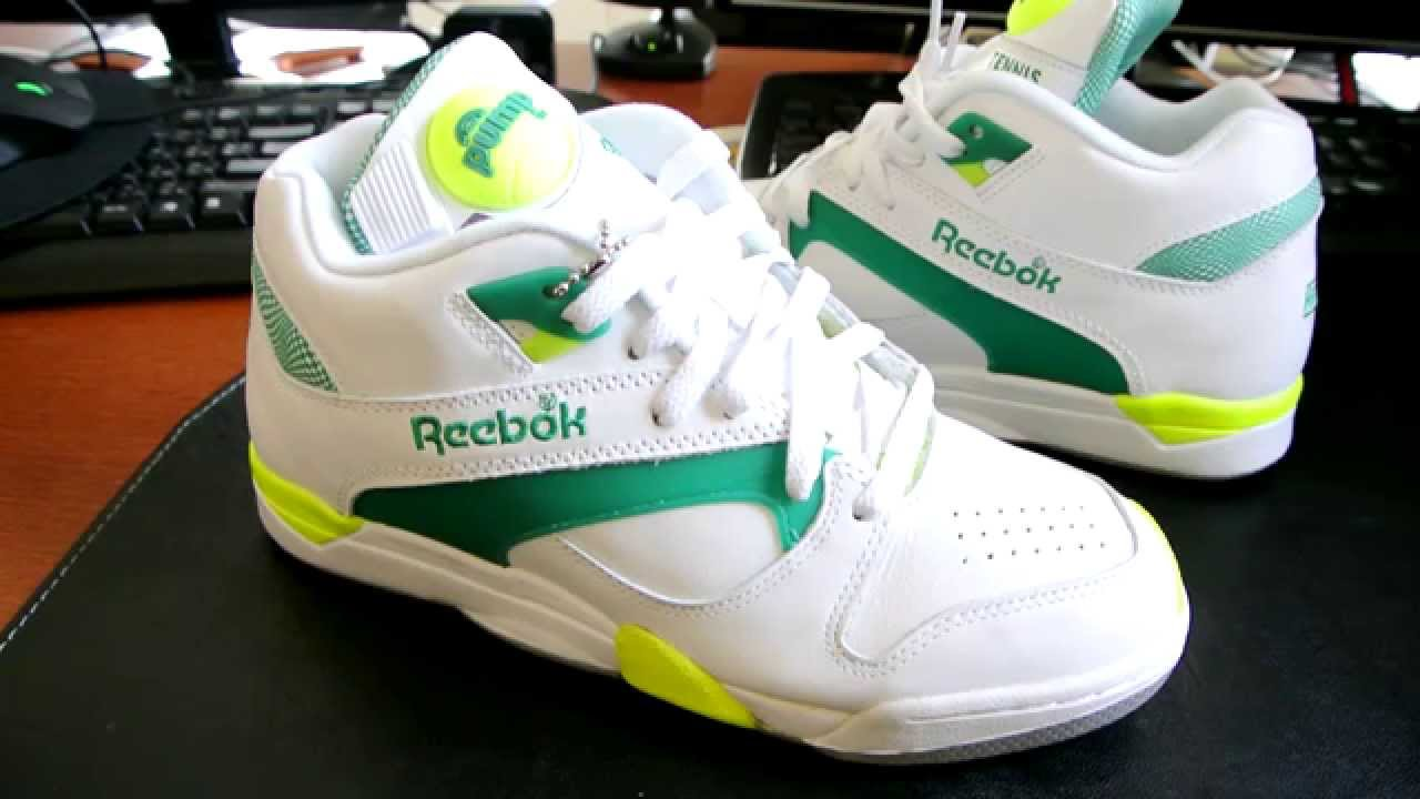 005889170d7d Reebok Court Victory Pump - OG Citron - YouTube