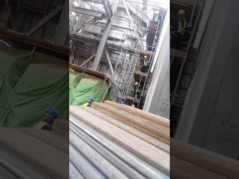 Binzagr company scaffolding working at height in pp -14 sepco lll project  in riyadh saudi arabia