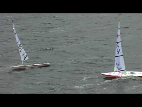 Rc Laser Sailboats Wave Riding Youtube