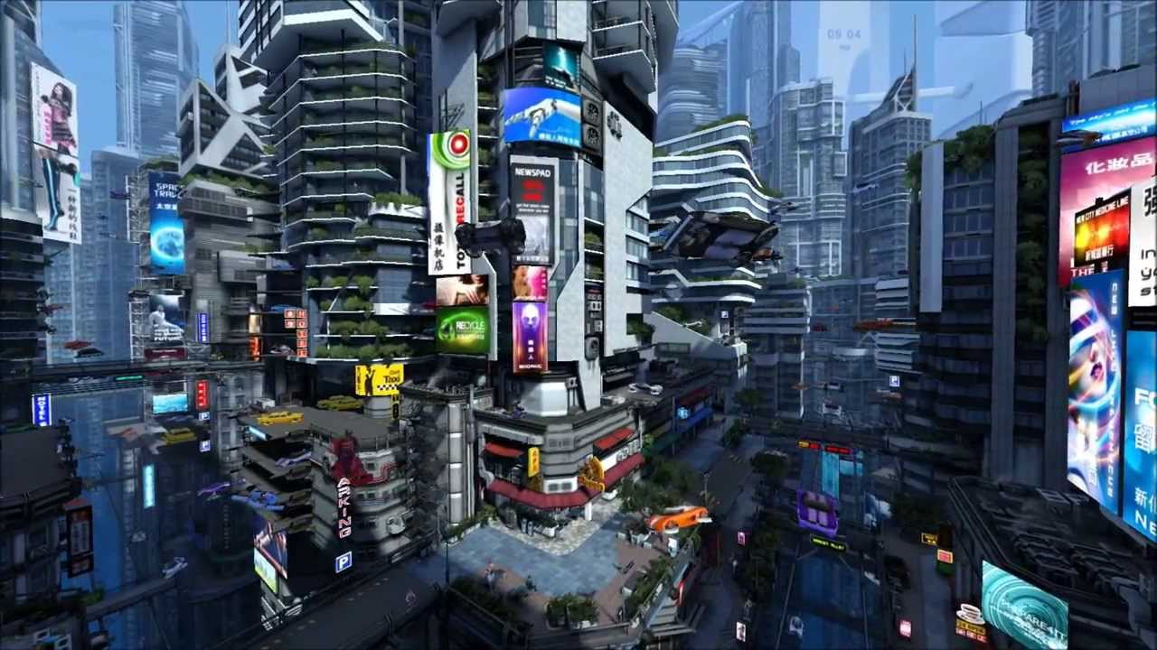Live 3d Hd Wallpapers For Laptop Futuristic City Screensaver By Quot 3planesoft Quot Youtube