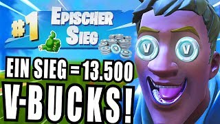 9 year old kid gets 13,500 V-Bucks per win! (Fortnite Epic Victory)