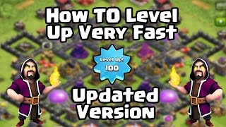 Clash Of Clans - How To Level Up VERY FAST in Clash Of Clans BEST Method! (Guide/Tutorial)