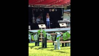 "Karleen Wilde singing ""Fight Song"" for RiverFest 8.1.15"