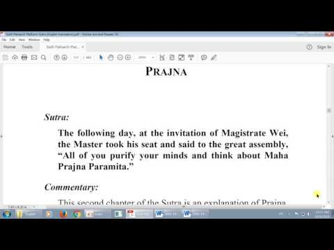 20161009 Buddha Nature Study: Platform Sutra, Chapter 2 (Kai)
