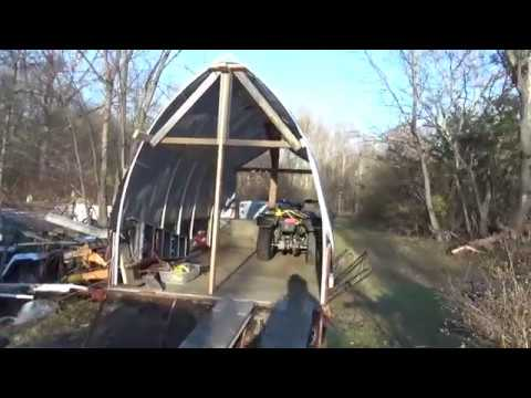 Diy Pvc Pipe And Tarp Shed Dry Winter Storage For Atvs