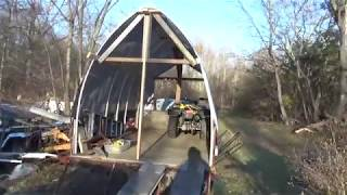 DIY PVC pipe and tarp shed, dry winter storage for ATVs,