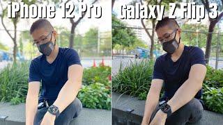 Samsung Galaxy Z Flip 3 vs iPhone 12 Pro Camera Comparison