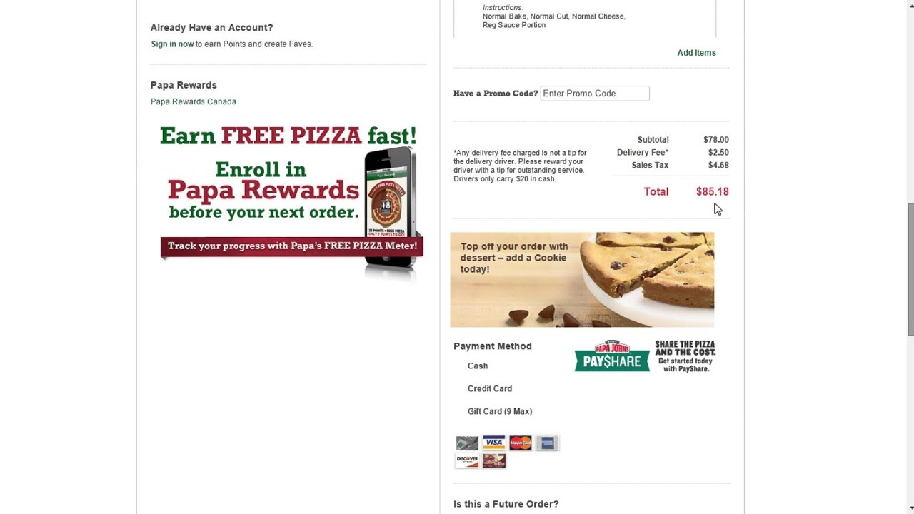 How to use a promo code at Papa Johns - YouTube