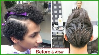 HAIR STRAIGHTENING FOR SHORT HAIR★HAIR TRANSFORMATION★MEN