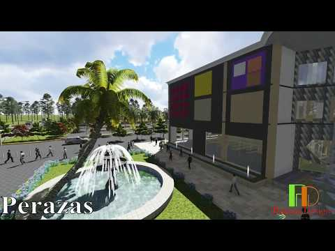 Ultra Modern Architectural Design for a mega shopping mall: 3D Lumion animmation video